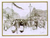 die mariahilferstraße in den abendstunden by felicien de myrbach-rheinfeld