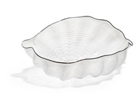 white seaform with black lip wrap by dale chihuly