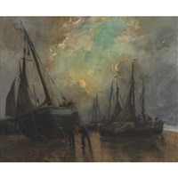 beached sailing vessels by georges chavignaud
