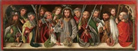 christ with the apostles by german school-swabian (15)