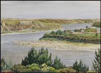 view of the river by ernest lindner