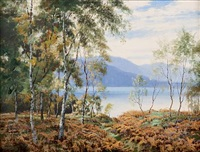 morning loch kinnord, near ballater by george melvin rennie