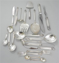 full twelve place setting (123 pieces) by georg jensen