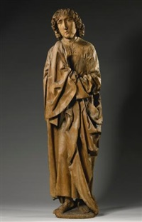 a figure of saint john by tilman riemenschneider