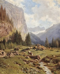 alpine views (2 works) by johann-joseph geisser
