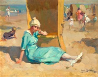 een zomerse dag op het strand by louis soonius