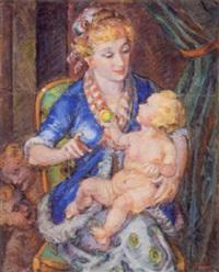 moder med barn by spiros xenos