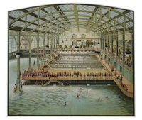 sutro baths (on 4 sheets) by posters: sports