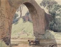 stang foot bridge - yorkshire by alfred crocker leighton