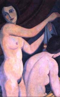zwei weibliche akte by maxmilian aurel reinitz rasko