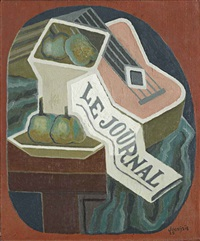 compotier et journal by juan gris