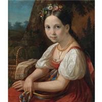 peasant girl by vasili andreevich tropinin