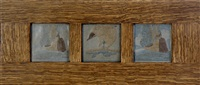 ship tiles (set of 3 in 1 frame) by arthur e. baggs