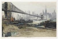 brooklyn bridge, new york by luigi kasimir