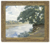 sunshine and shade on the river test by augustus william enness