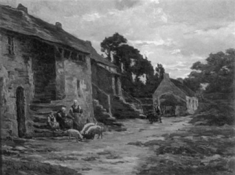 the farmyard by charles francisque raub