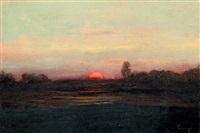 alföldi naplemente by jános tornyai