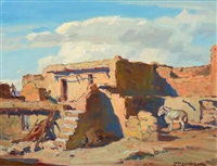 hopi village (walpi) by carl oscar borg