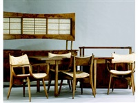 dining ensemble (set of 9 works) by rom weber