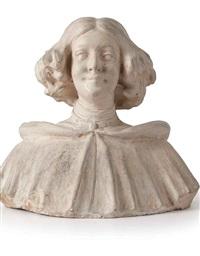 busto di giovinetta by domenico baccarini