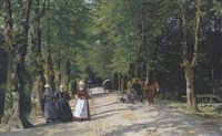die schlossallee in weimar by hermann linde
