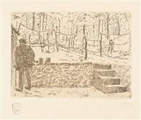 ciel d'orage et le potager (2 works) by rik wouters