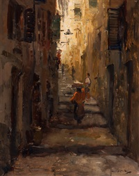 street in nice by jan korthals