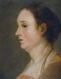 portrait de femme by jacob adriaensz de backer