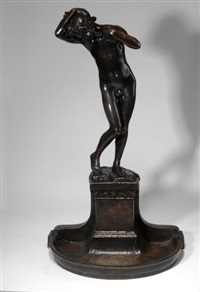 brunnenfigur narziss by henri léon greber