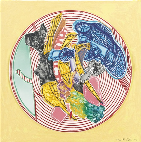 egyplosis relief from imaginary places ii by frank stella