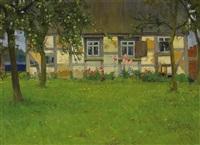 altes bauernhaus mit obstgarten by hugo köcke