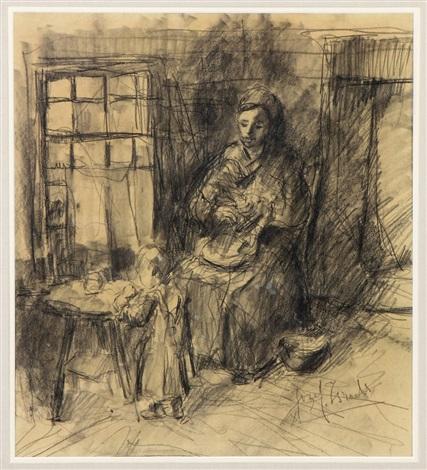 mother & child by jozef israëls