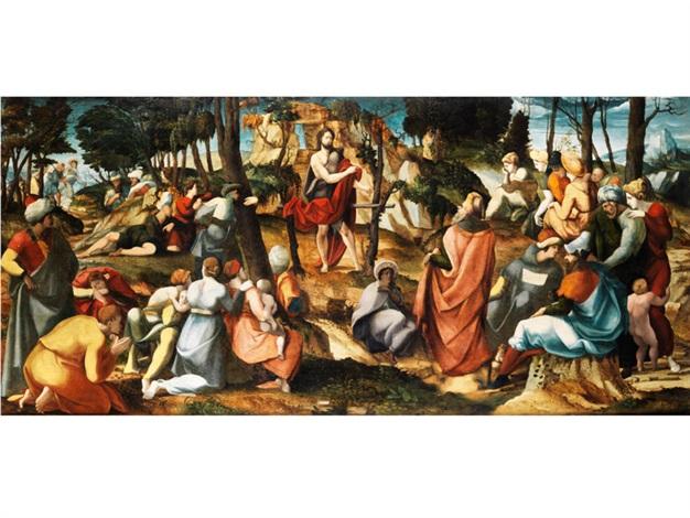 die predigt johannes des täufers by jan van scorel