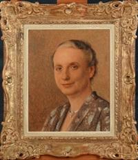 portrait de dame by louis buisseret