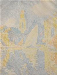 saint tropez - le port by paul signac