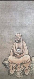 meditating daruma by sansetsu