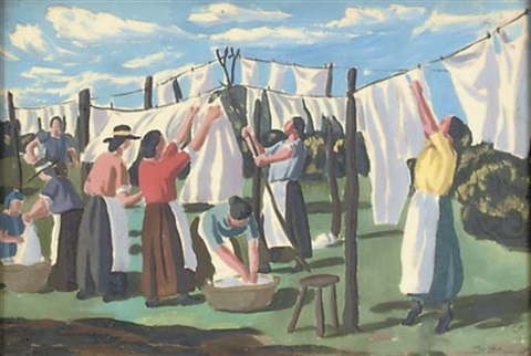 washing day in april by thomas nash