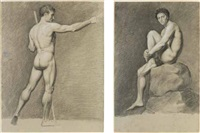 nudo maschile (+ 3 others, irgr; 4 works) by matteo (picassi) picasso