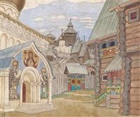 russian village by ivan yakovlevich bilibin