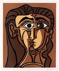 tête de femme (portrait de jacqueline de face, ii) by pablo picasso