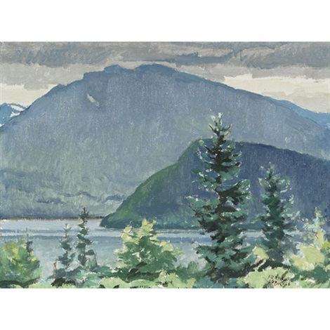 morning at lake lomond gros morne nfld by george franklin arbuckle
