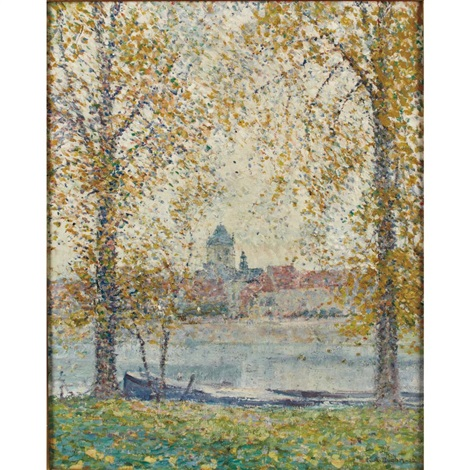 along the river france by karl albert buehr