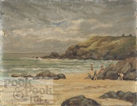 landscape beach scene by h. clayton adams