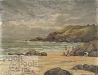 landscape beach scene by h. clayton adams