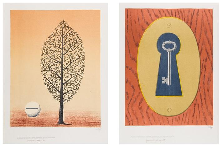 arbre et grelot le sourire du diable 2 works by rené magritte