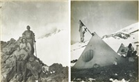 the ascent of mount erebus, british antarctic expedition (+ 7 others; set of 8) by edgeworth david