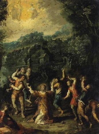 die steinigung des heiligen stephanus by johann hans konig