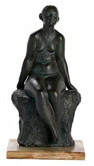 joven sentada by artur aldoma puig