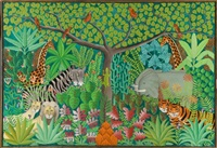 jungle scene by gabriel alix