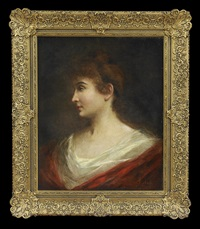 portrait of a red-haired lady by angelo asti
